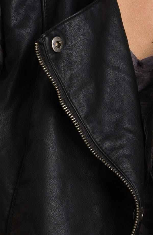 Alternate Image 3  - Collection B Faux Leather Moto Vest (Juniors)