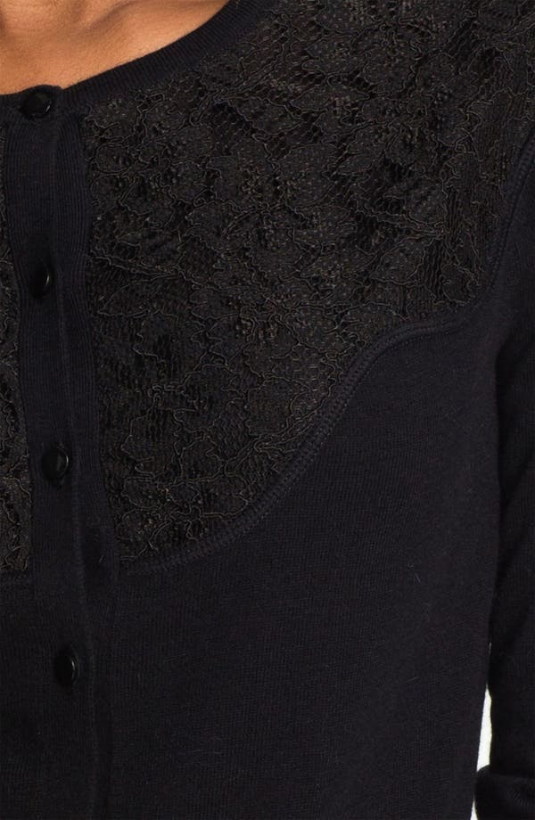 Alternate Image 3  - Halogen® Lace Yoke Cardigan