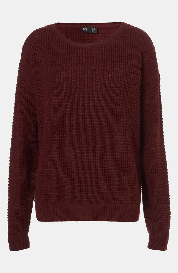Alternate Image 1 Selected - Topshop Textured Knit Sweater