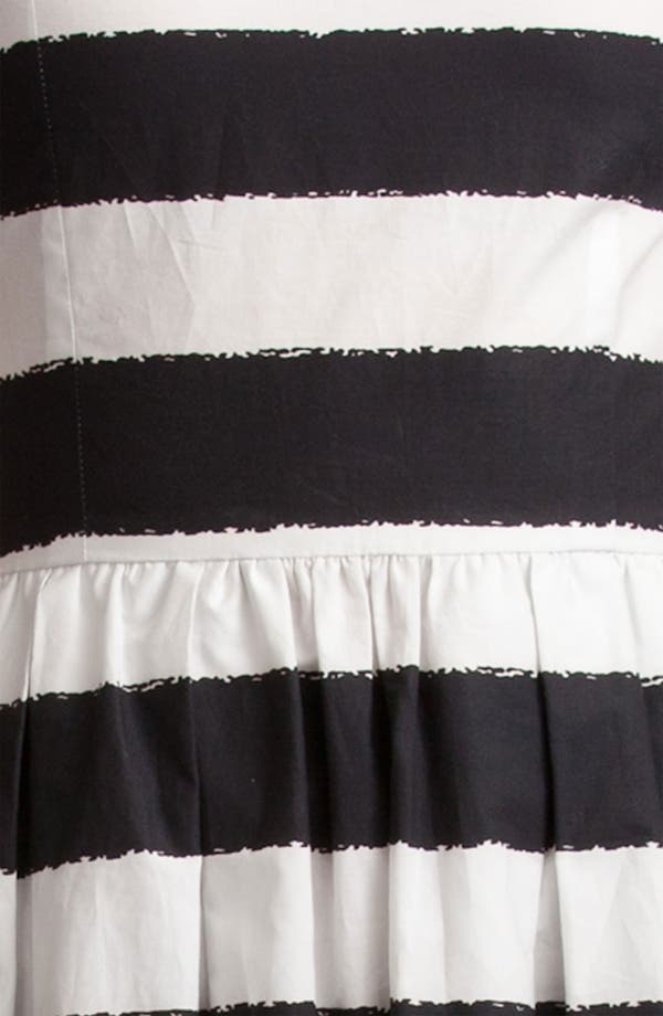 Alternate Image 3  - Dolce&Gabbana Stripe Full Skirt Poplin Dress