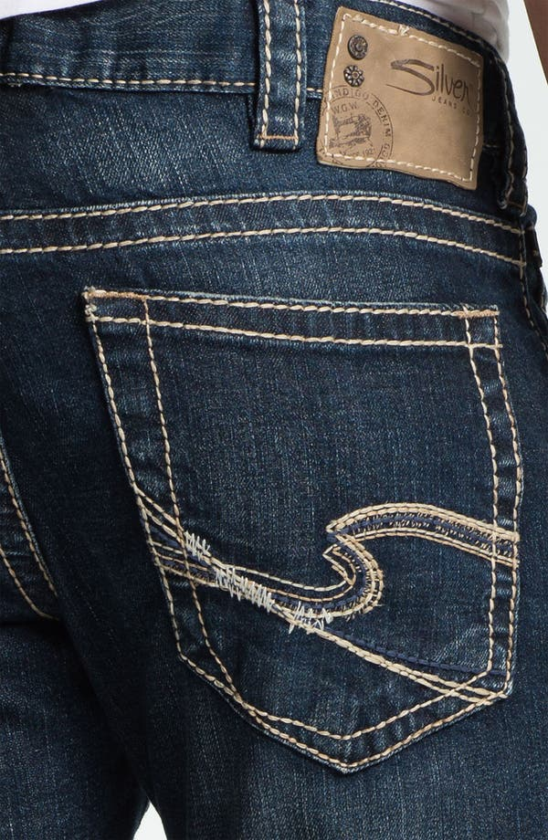 Alternate Image 4  - Silver Jeans Co. 'Zac' Straight Leg Jeans (Indigo)