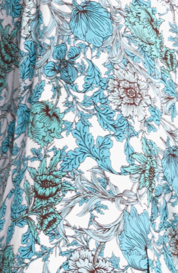 Alternate Image 3  - Thakoon Floral Print Draped Crêpe de Chine Gown