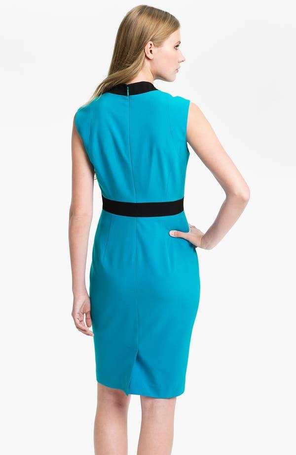 Alternate Image 2  - Calvin Klein Colorblock Sleeveless Sheath Dress