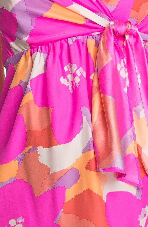 Alternate Image 3  - ALICE & TRIXIE 'Amanda' Strapless Print Silk Dress