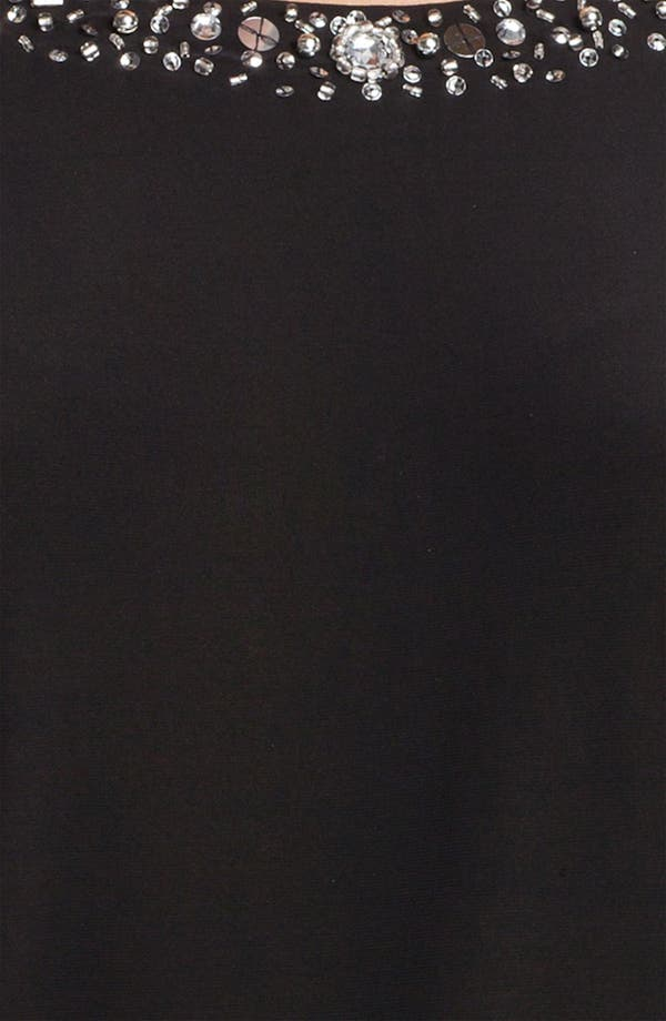 Alternate Image 3  - Alex Evenings Embellished Neck Split Shoulder Jersey Blouse
