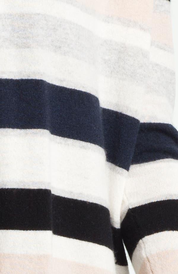Alternate Image 3  - autumn cashmere Multi Stripe Drape Front Cardigan