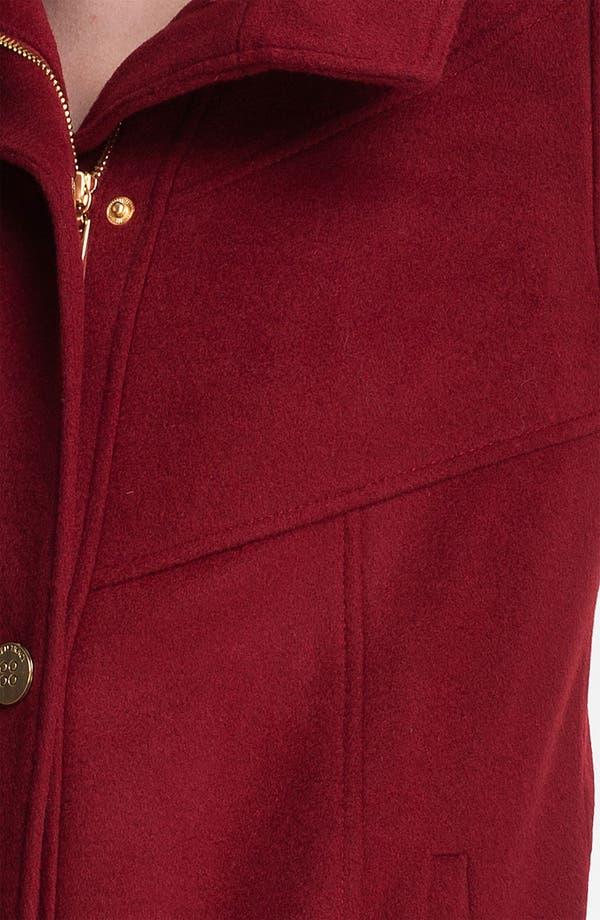 Alternate Image 3  - Ellen Tracy Hooded Wool Blend Coat (Petite)