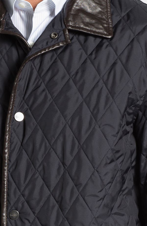 Alternate Image 3  - Salvatore Ferragamo Quilted Barn Coat