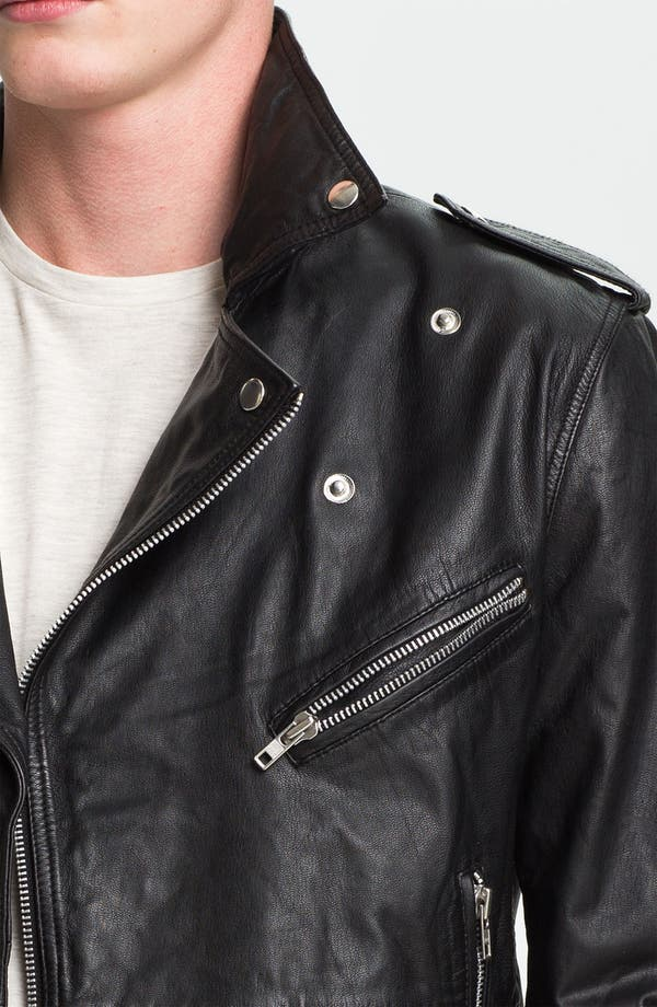Alternate Image 3  - Topman Leather Biker Jacket