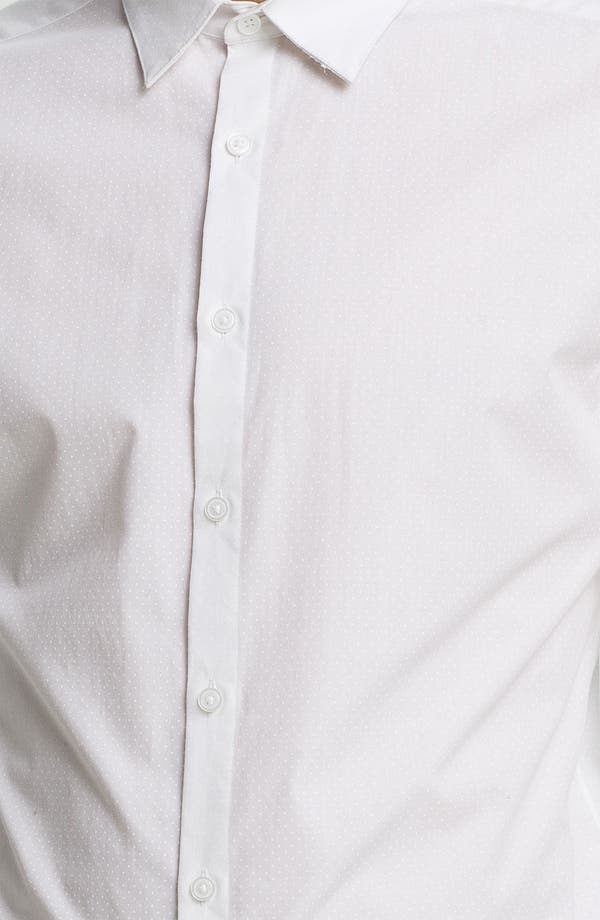 Alternate Image 3  - Topman Slim Fit Tonal Pin Dot Dress Shirt