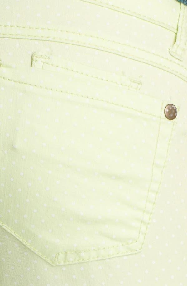 Alternate Image 3  - Jolt Polka Dot Skinny Jeans (Juniors)