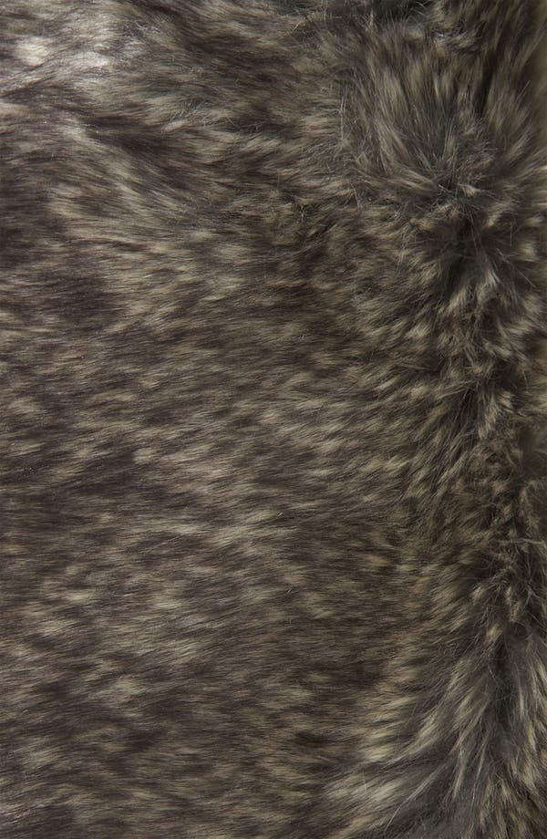 Alternate Image 3  - Topshop 'Karim' Faux Fur Lined Metallic Coat
