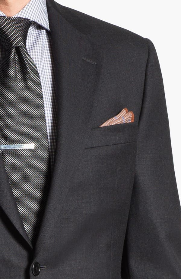 Alternate Image 2  - Hickey Freeman Charcoal Worsted Wool Suit