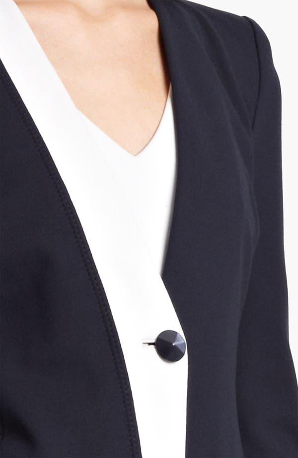 Alternate Image 5  - Armani Collezioni One Button Jersey Jacket