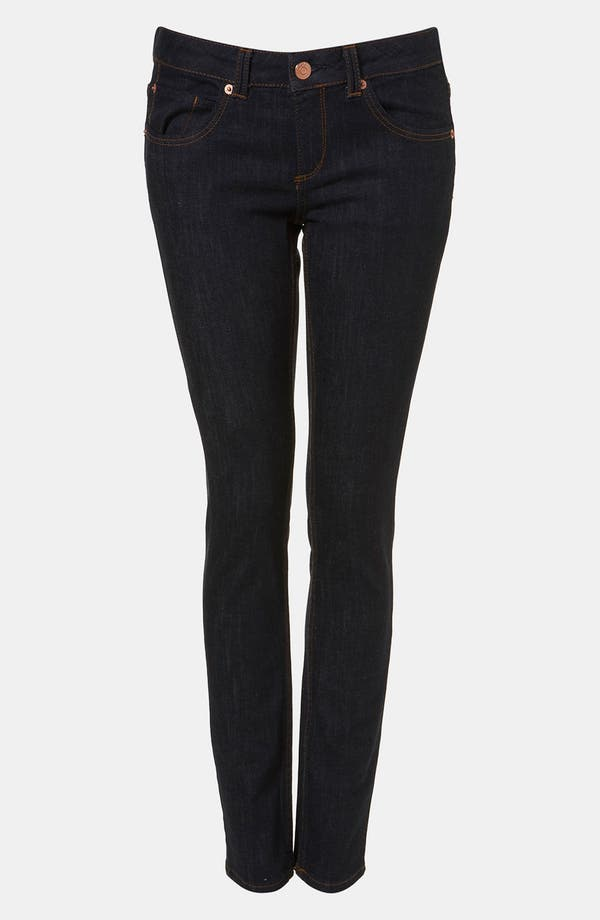 Alternate Image 1 Selected - Topshop Moto 'Baxter' Skinny Jeans (Indigo)