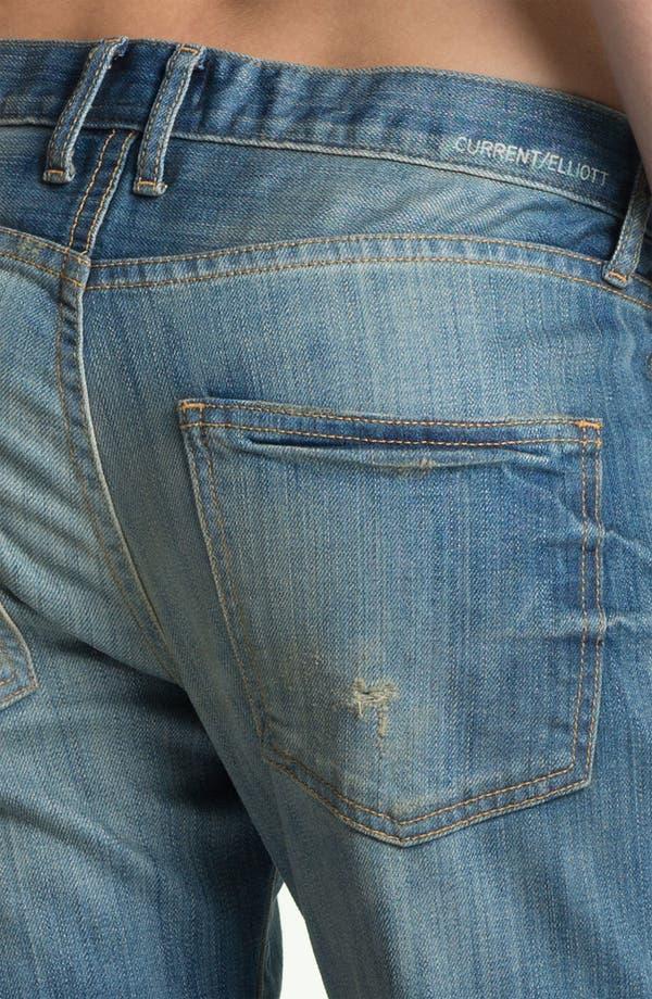 Alternate Image 3  - Current/Elliott 'The Boyfriend Jean' Stretch Jeans (Panhandle with Repair)