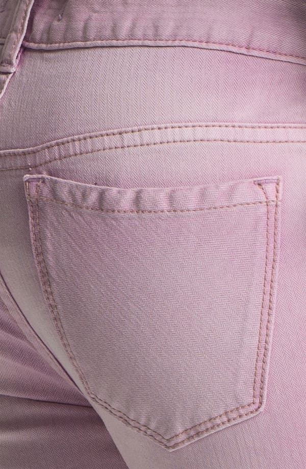 Alternate Image 3  - Free People Crop Stretch Denim Skinny Jeans (Orchid)