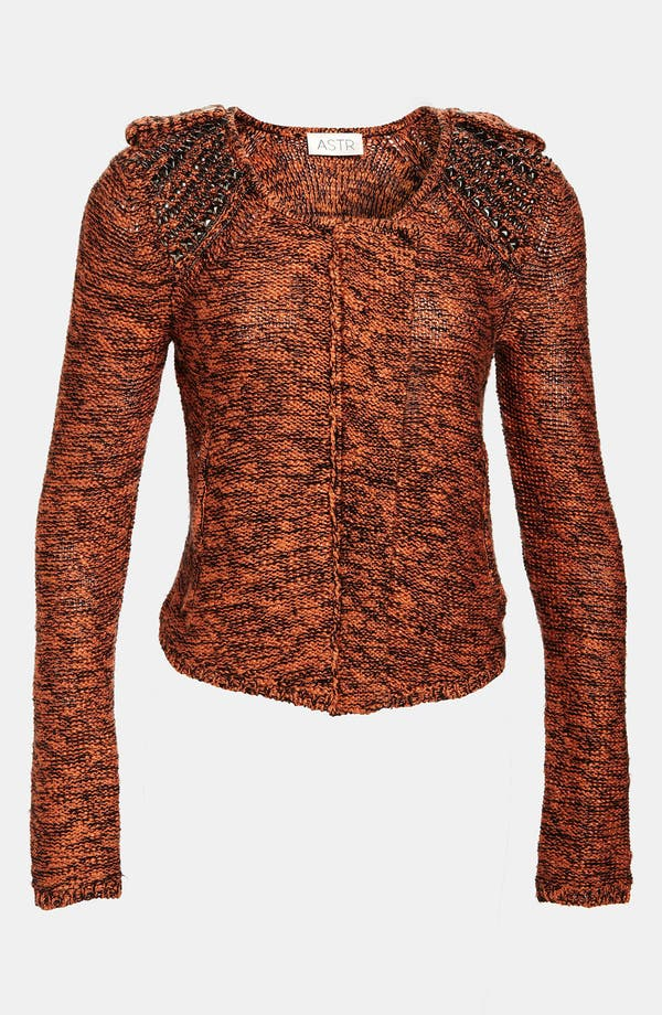 Alternate Image 1 Selected - ASTR Studded Cardigan