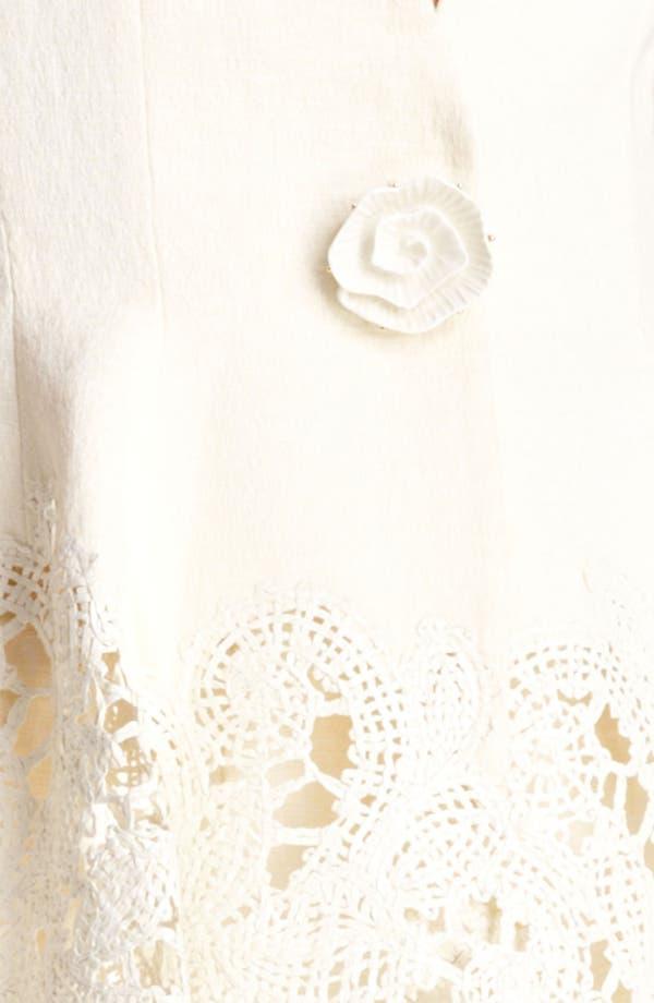 Alternate Image 3  - Oscar de la Renta Cutout Detail Vest