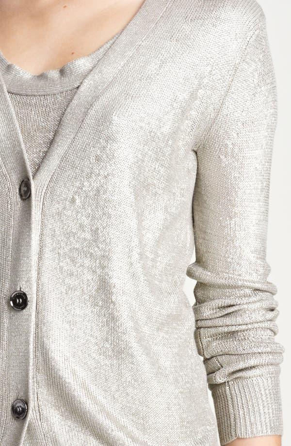 Alternate Image 3  - Burberry London Metallic Silk Cardigan