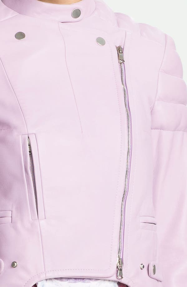 Alternate Image 4  - Carven Leather Moto Jacket
