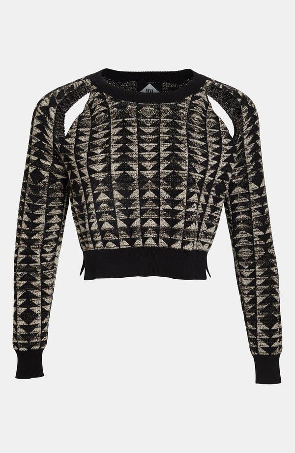 Main Image - Viva Vena! Cutout Geometric Jacquard Sweater