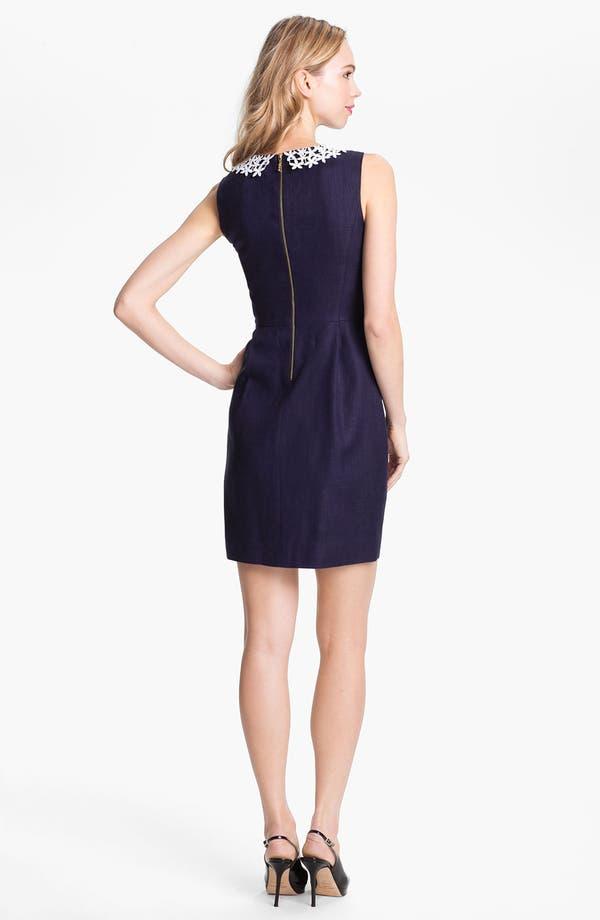 Alternate Image 2  - kate spade new york 'tiff' linen blend sheath dress