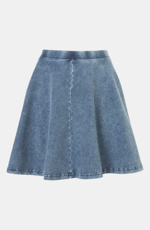 Alternate Image 1 Selected - Topshop 'Andie' Denim Skater Skirt