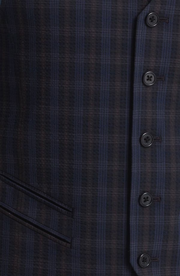 Alternate Image 2  - John Varvatos Star USA Red Label Plaid Vest