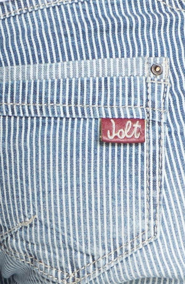 Alternate Image 3  - Jolt 'Railroad Stripe' Crop Skinny Jeans (Juniors)