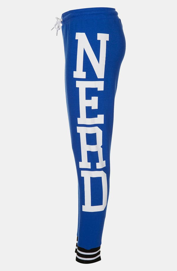 Alternate Image 3  - Topshop 'Nerd' Graphic Tapered Sweatpants