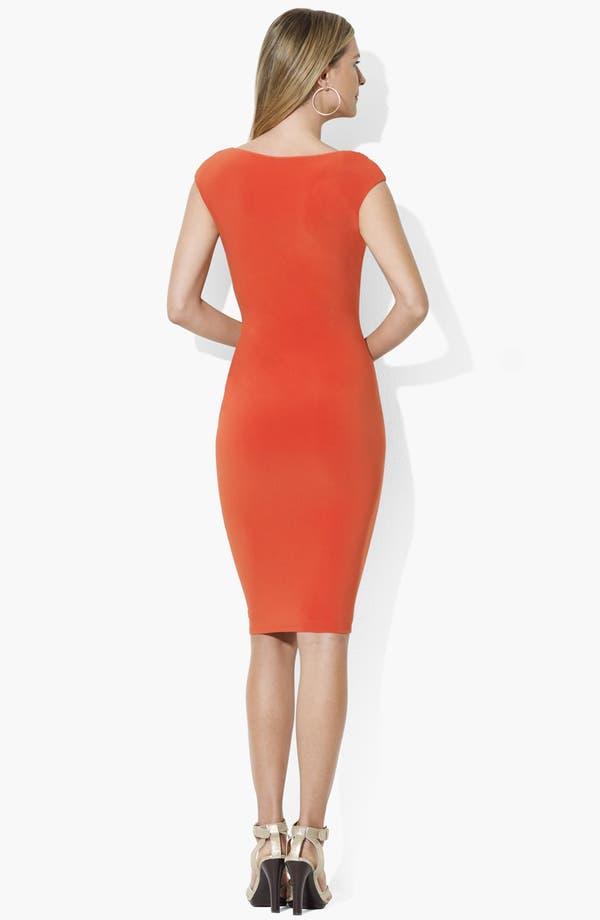 Alternate Image 2  - Lauren Ralph Lauren Bateau Neck Jersey Dress