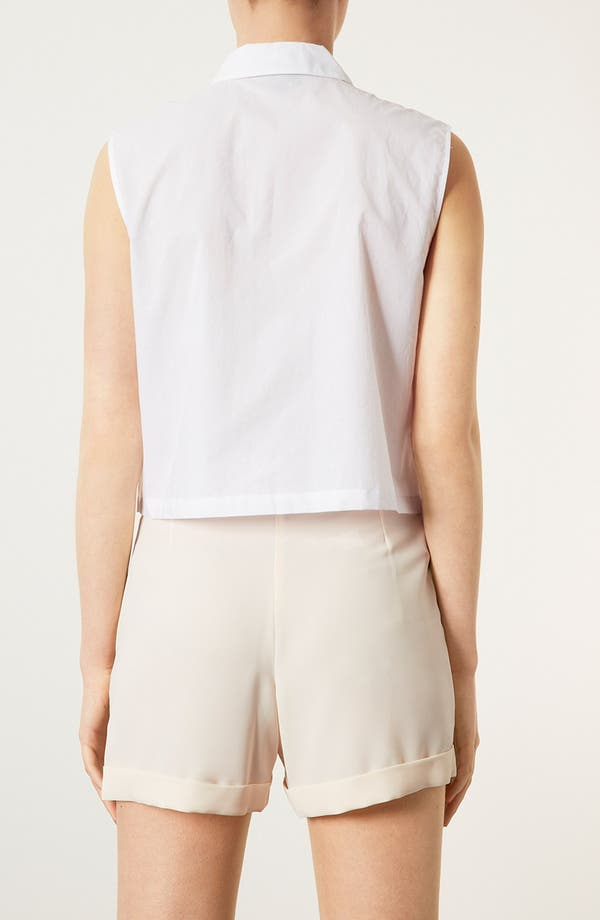Alternate Image 2  - Topshop Embroidered Cutout Sleeveless Shirt