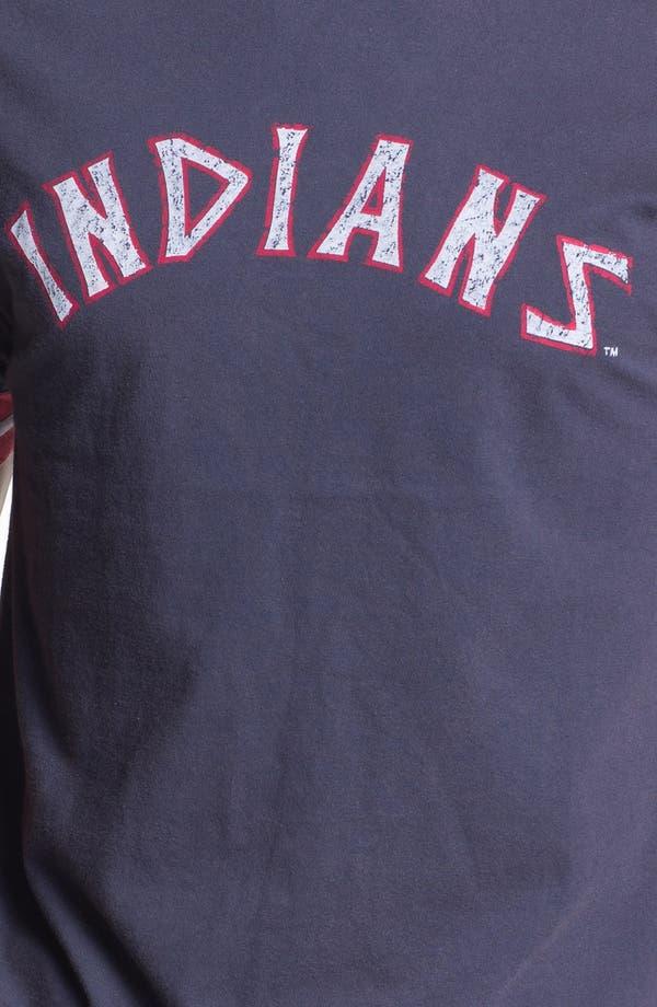 Alternate Image 3  - Red Jacket 'Cleveland Indians' Trim Fit Crewneck Ringer T-Shirt