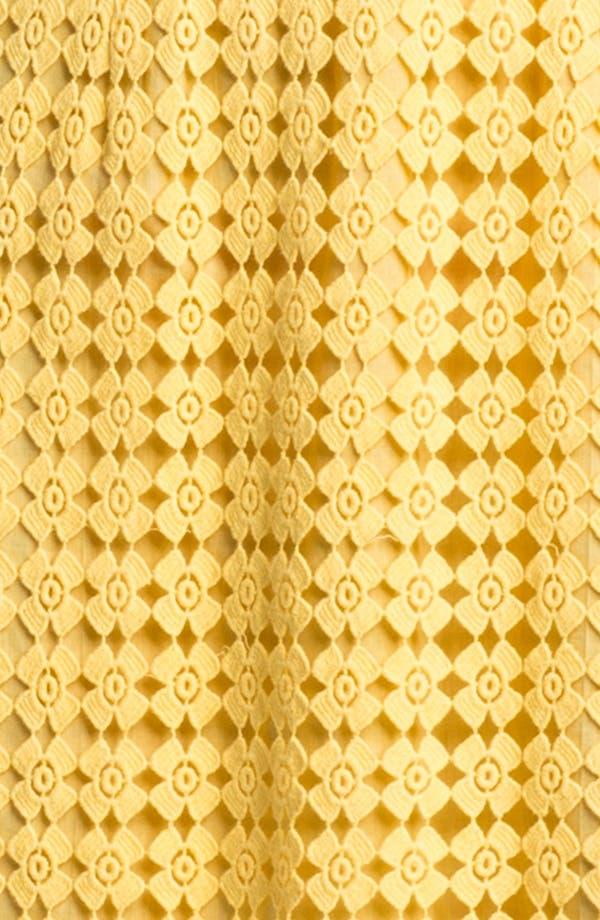 Alternate Image 3  - Laundry by Shelli Segal Sleeveless Lace Cotton Dress