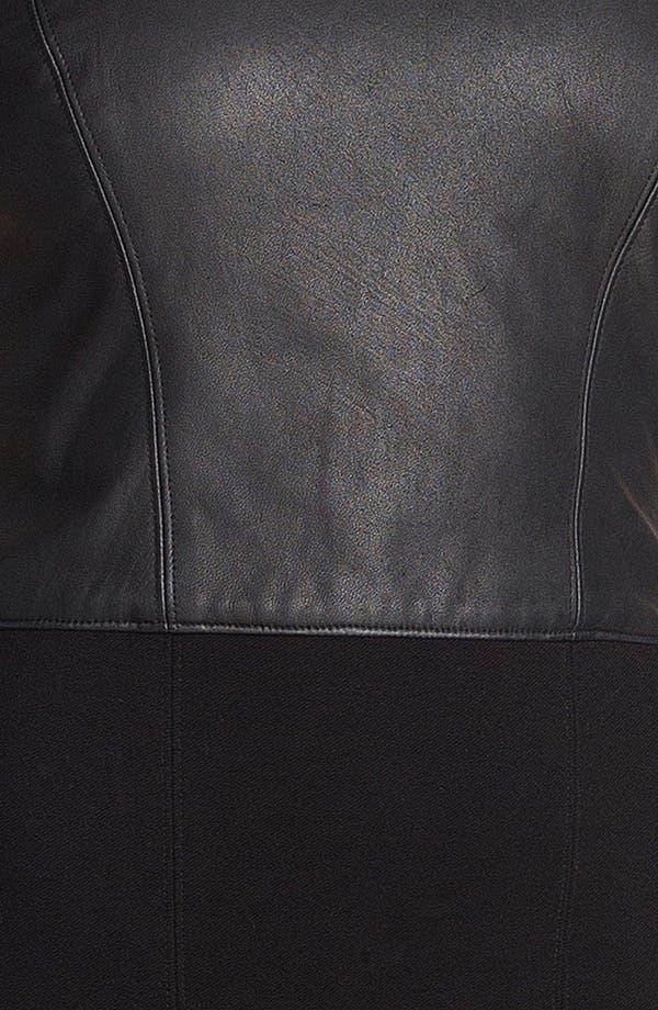 Alternate Image 3  - HELMUT Helmut Lang Leather Combo Minidress
