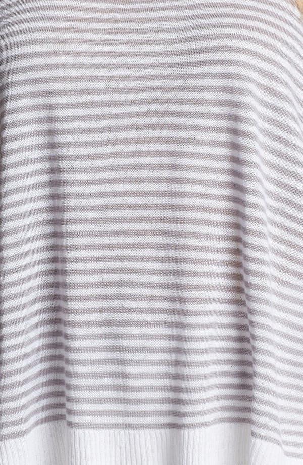 Alternate Image 3  - Eileen Fisher Stripe Linen Top (Plus Size)