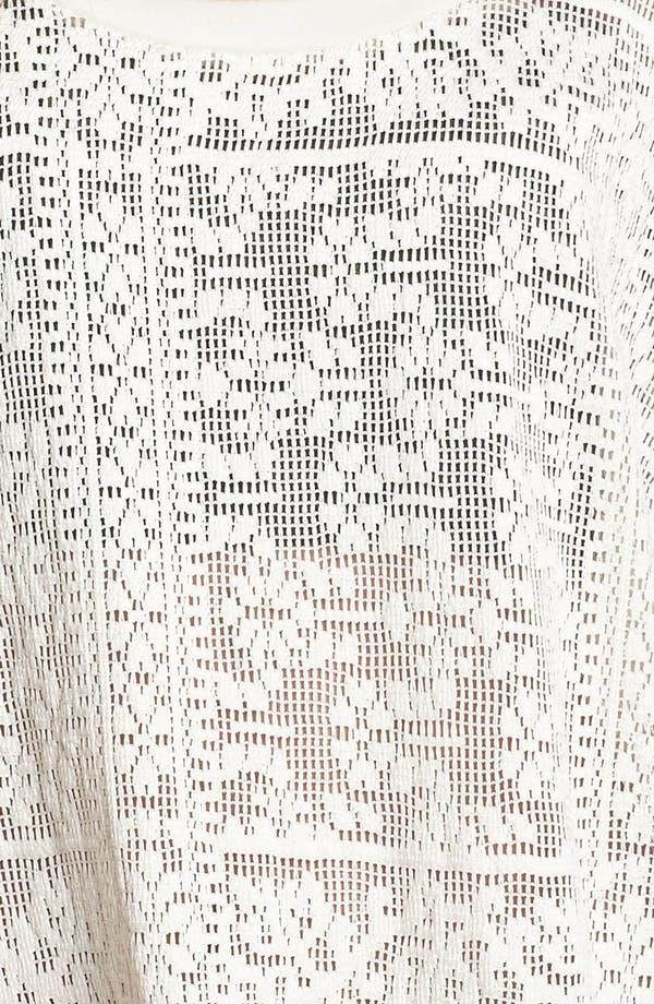 Alternate Image 3  - Lily White Crochet Top (Juniors)