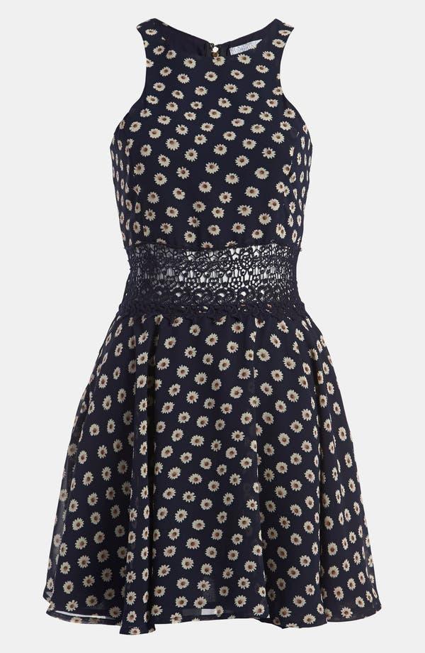 Alternate Image 2  - Lucca Couture Floral Skater Dress