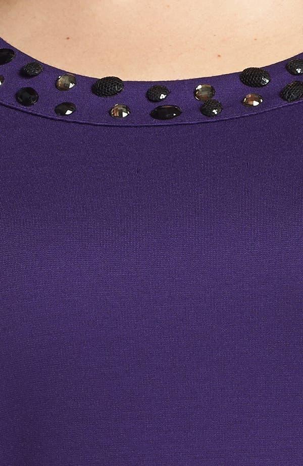 Alternate Image 3  - Sejour Embellished Ponte Knit Top (Plus Size)