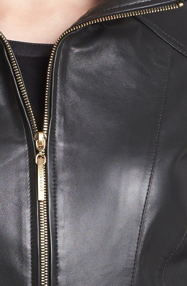 Alternate Image 3  - Ellen Tracy Belted Leather Jacket (Nordstrom Exclusive)