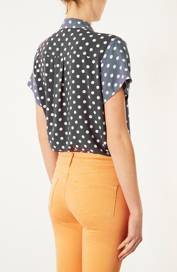 Alternate Image 2  - Topshop Polka Dot Shirt
