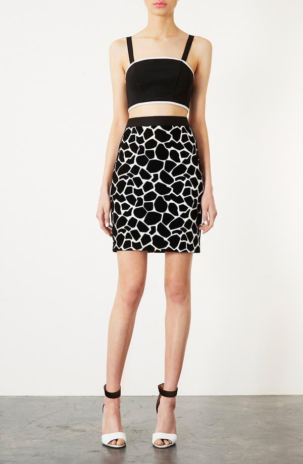 Alternate Image 4  - Topshop Giraffe Pattern Pencil Skirt