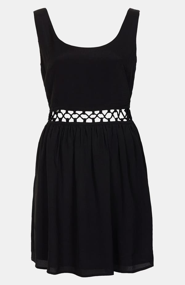 Alternate Image 3  - Topshop Lace-Up Waist Dress