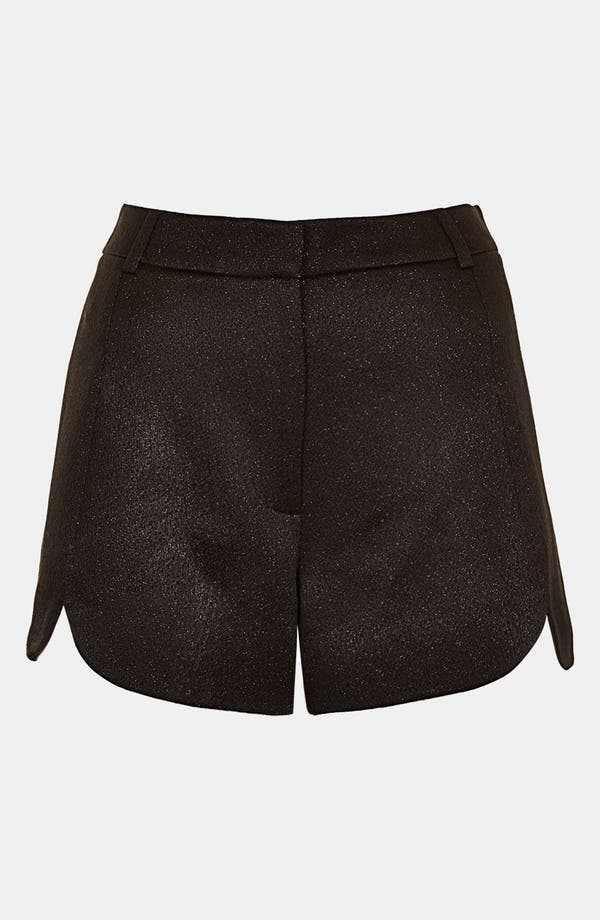 Alternate Image 3  - Topshop Scalloped Shimmer Shorts