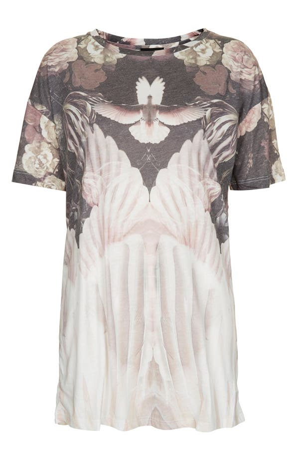 Alternate Image 3  - Topshop Dove & Flower Graphic Tee