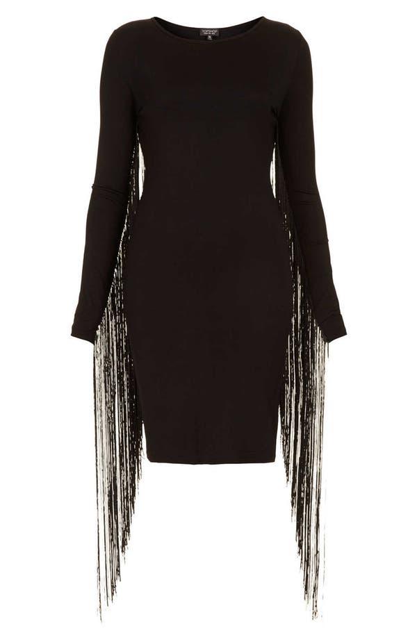 Alternate Image 3  - Topshop Fringe Body-Con Dress