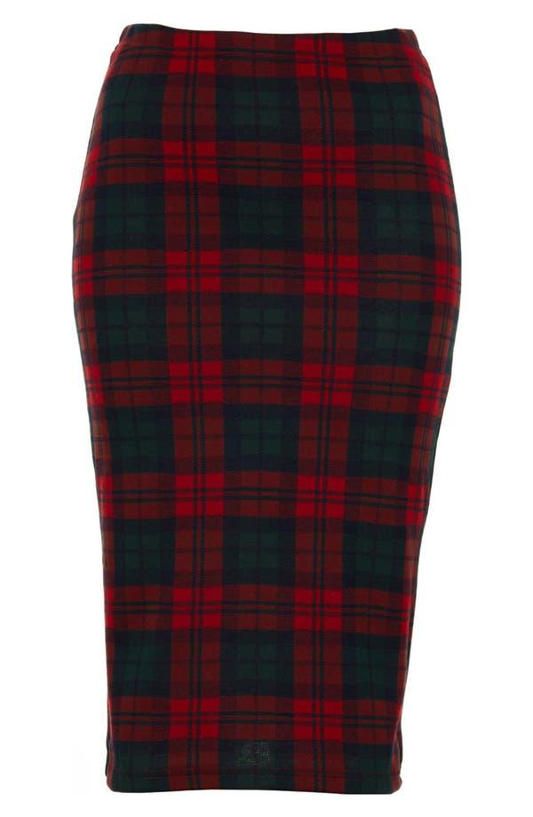 Alternate Image 3  - Topshop Check Print Tube Skirt