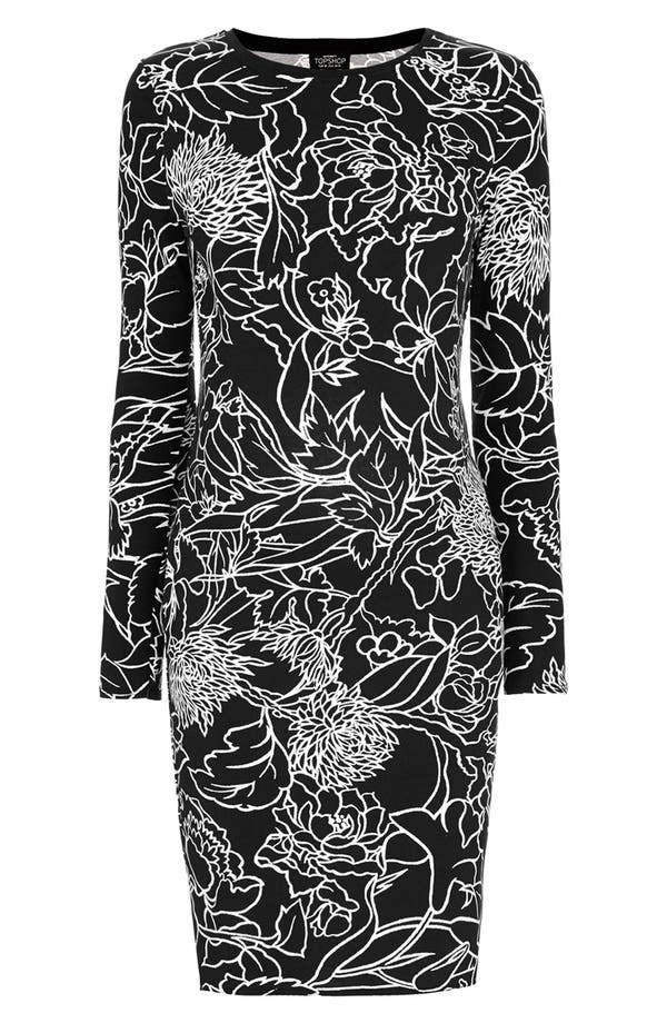 Alternate Image 3  - Topshop 'Pen Garden' Body-Con Maternity Dress