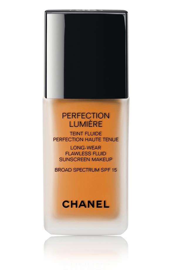 PERFECTION LUMIÈRE<br />Long-Wear Flawless Fluid Sunscreen Makeup Broad Spectrum SPF 15,                         Main,                         color, 114 Ambre